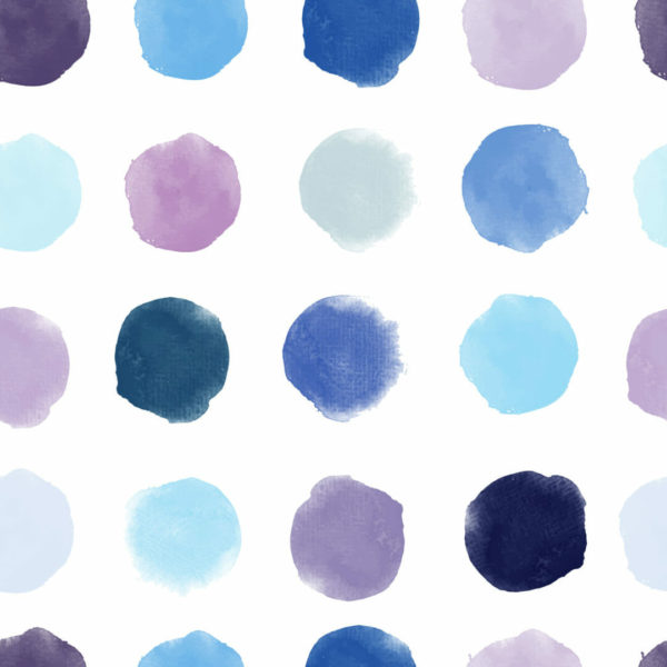 blue dotted nursery peel and stick wallpaper