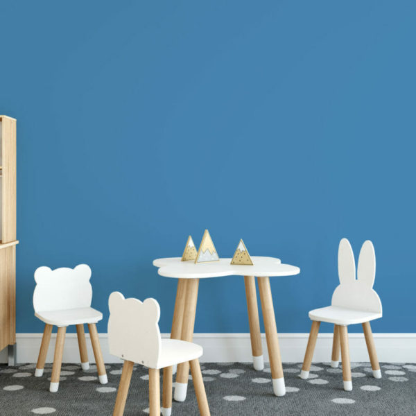 bright blue solid peel and stick wallpaper