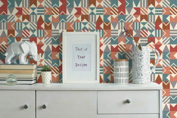 colorful mosaic self-adhesive wallpaper