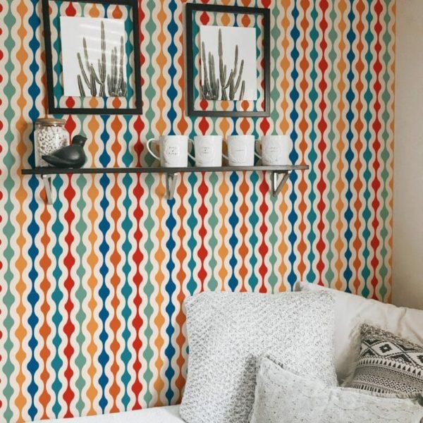 Colorful retro wallpaper