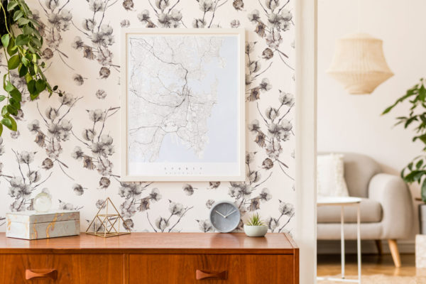 gray watercolor cotton nursery peel and stick wallpaper