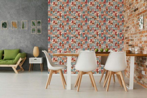 self adhesive mosaic wallpaper