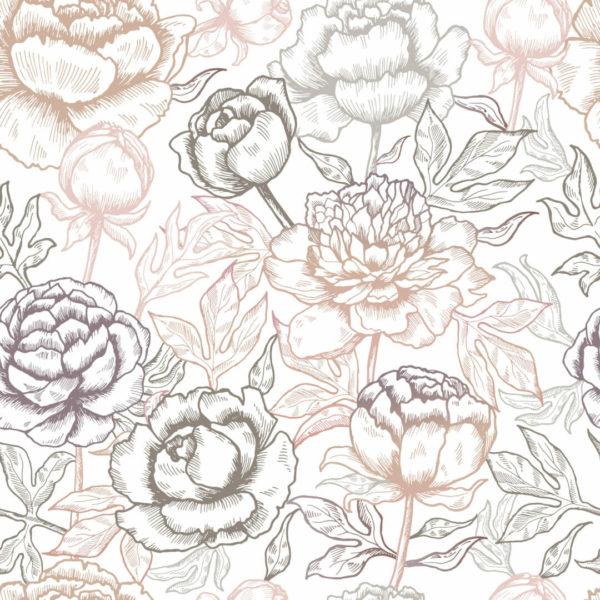 multicolored floral self-adhesive wallpaper