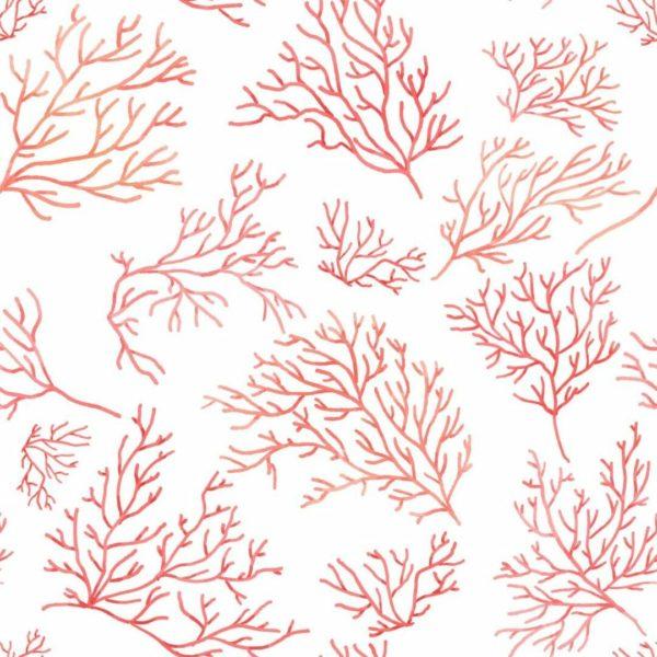 pink coral self-adhesive wallpaper