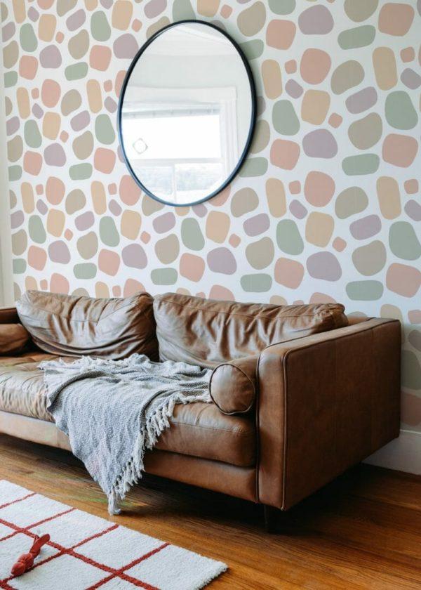 pink terrazzo wallpaper peel and stick