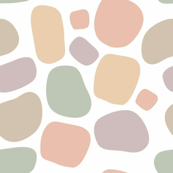 pink terrazzo removable wallpaper