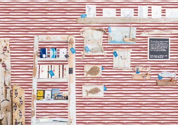 self adhesive striped wallpaper