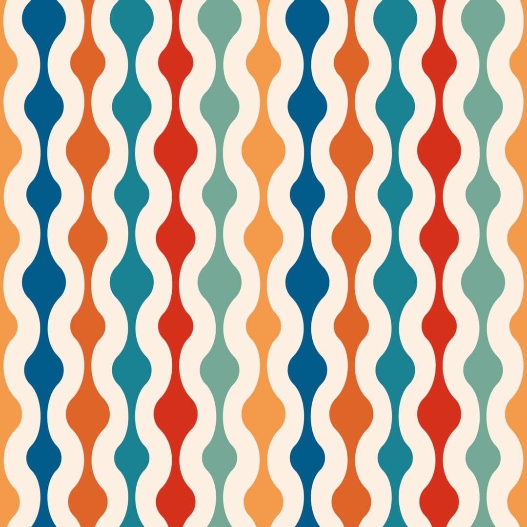 colorful retro peel and stick removable wallpaper