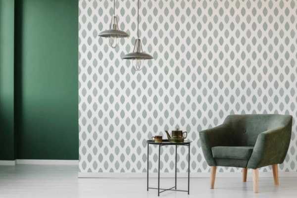 removable green wallpaper