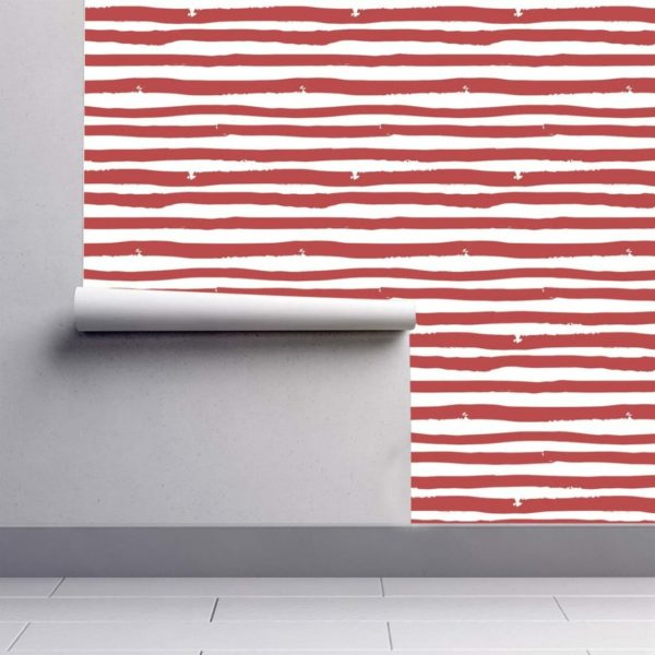 striped stick and peel wallpaper