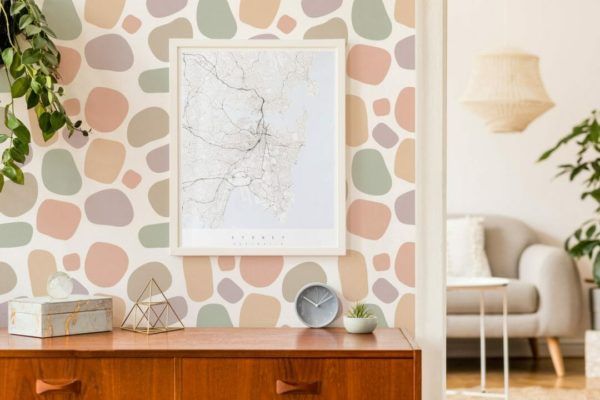 pink terrazzo peel and stick removable wallpaper