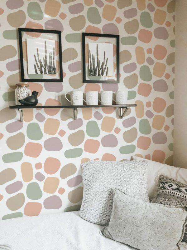terrazzo peel stick wallpaper