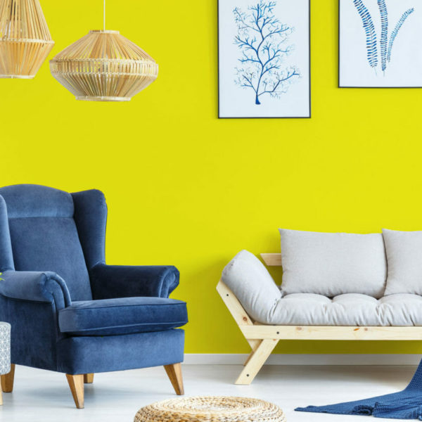 yellow solid peel and stick wallpaper