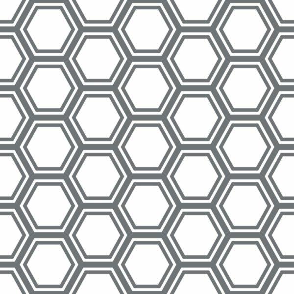 gray hexagon design pattern