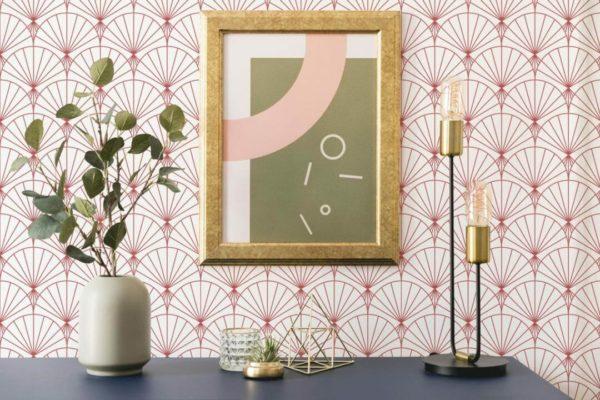 art deco stick and peel wallpaper