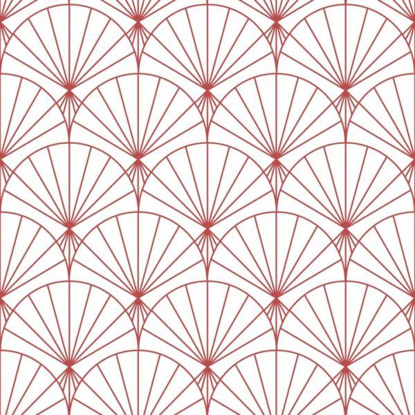 red art deco design pattern