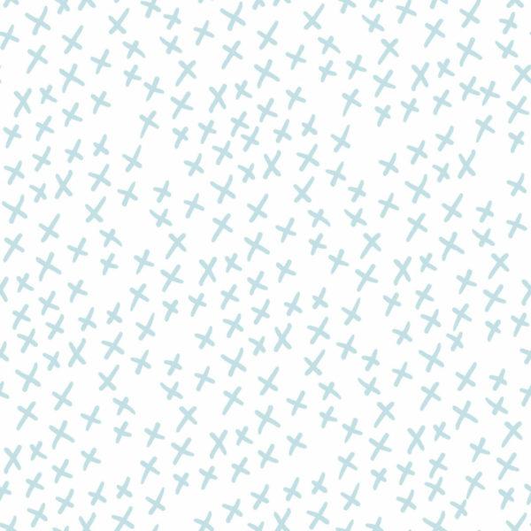 blue x cross peel and stick wallpaper