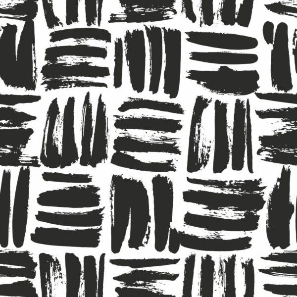 black brushstroke square design pattern