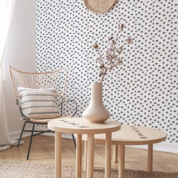 gray dalmatian peel and stick wallpaper