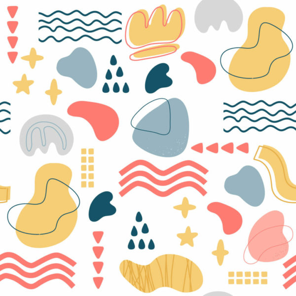 multicolor shapes peel and stick wallpaper