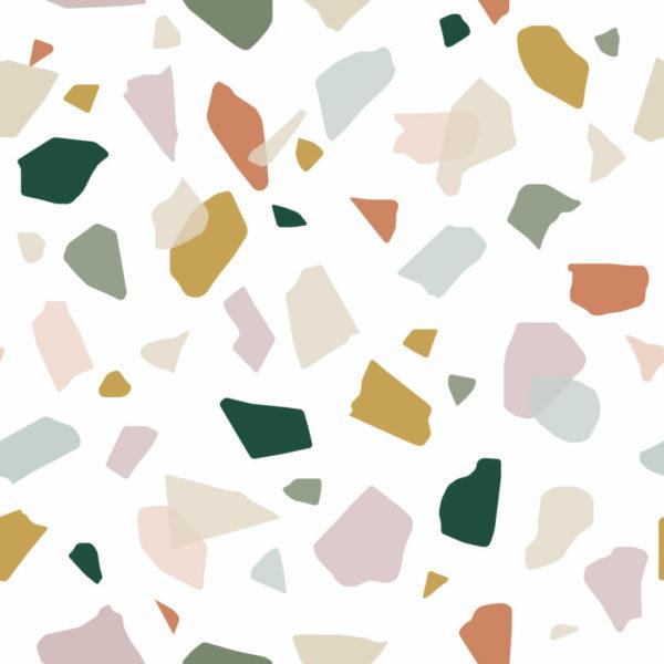 multicolor terrazzo design pattern