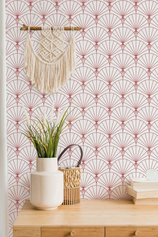 removable red wallpaper