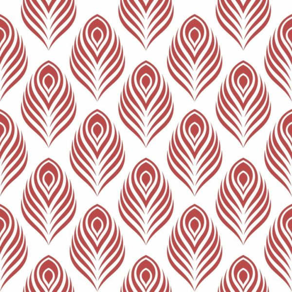red peacock design pattern