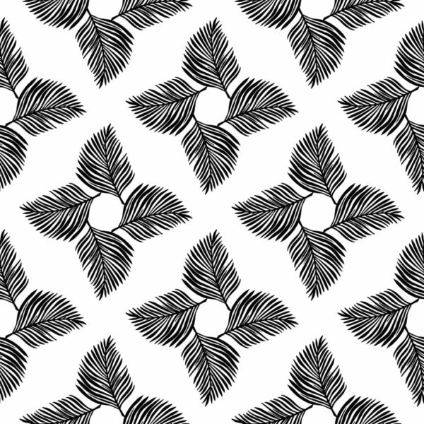 black and white leaf wallpaper roll