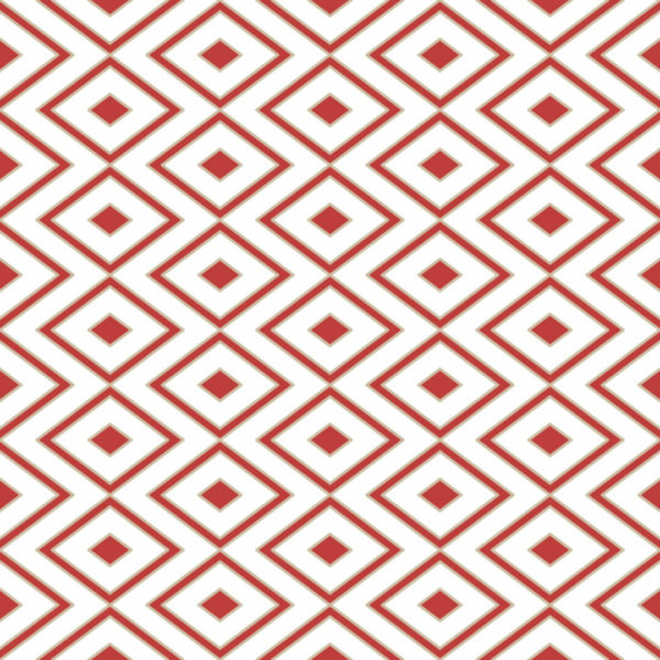 red and white rhombus self-adhesive wallpaper