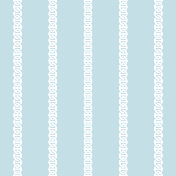 blue and white chain lines wallpaper roll