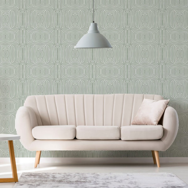 green abstract line wallpaper peel and stick