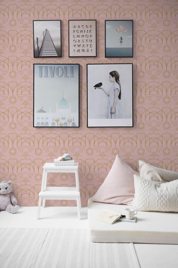 art deco peel stick wallpaper