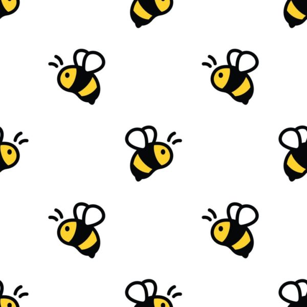 bee stick and peel wallpaper