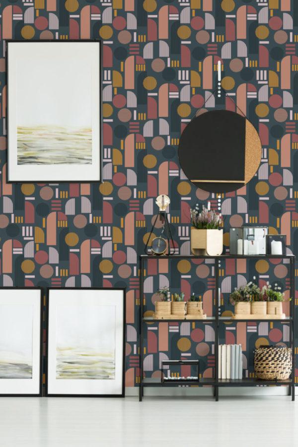 dark arch stick and peel wallpaper