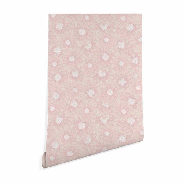 beige chrysanthemum floral wallpaper peel and stick