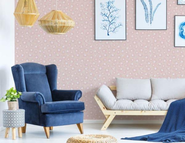 beige chrysanthemum floral wallpaper roll