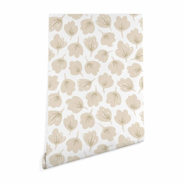 beige floral wallpaper peel and stick