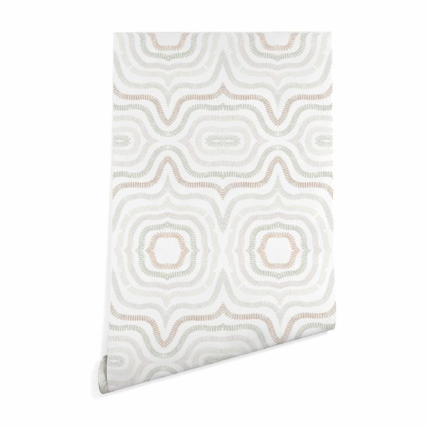 beige modern boho abstract wallpaper peel and stick