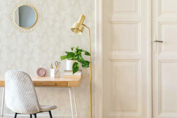 beige modern boho abstract wallpaper roll