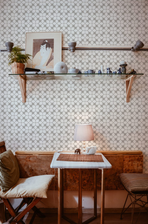 oriental tile stick and peel wallpaper