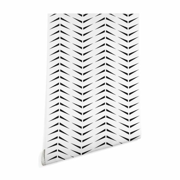 black and white accent herringbone peel and stick removable wallpaper