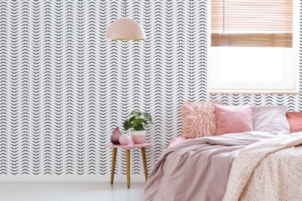 accent herringbone stick and peel wallpaper