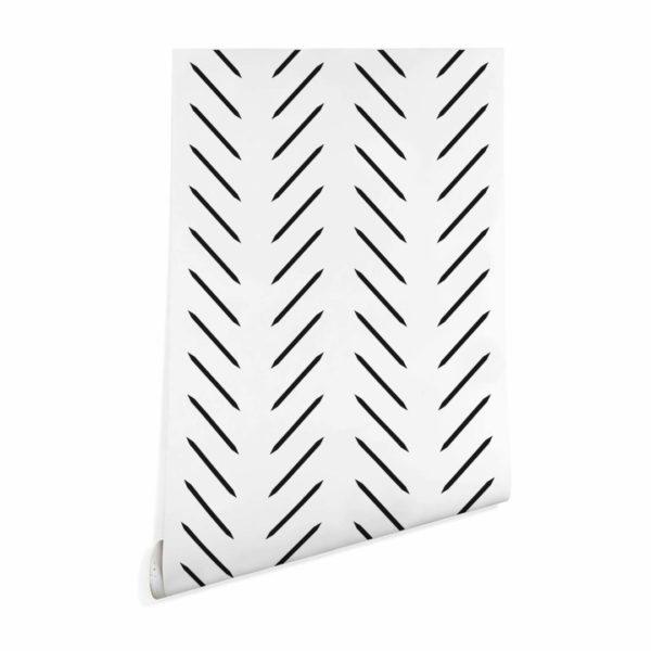 contemporary herringbone peel stick wallpaper