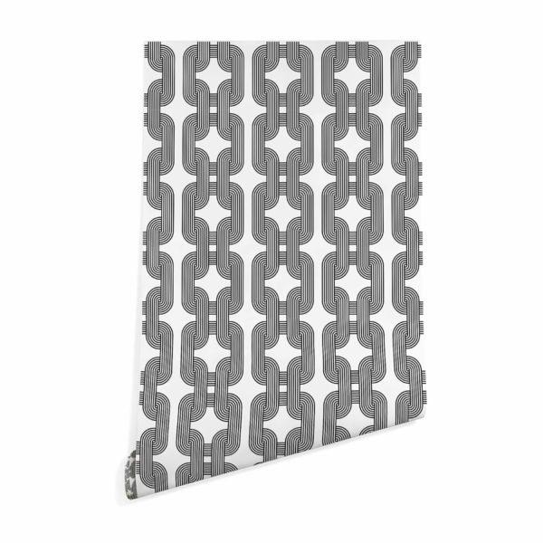 black custom color chain wallpaper roll
