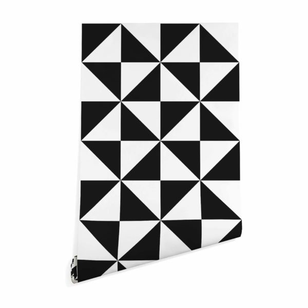 black large triangle wallpaper peel and stick
