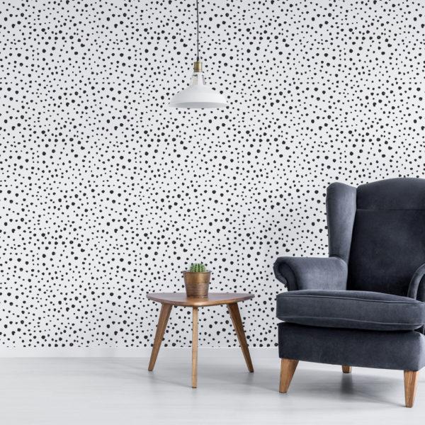 black scattered polka dot wallpaper peel and stick
