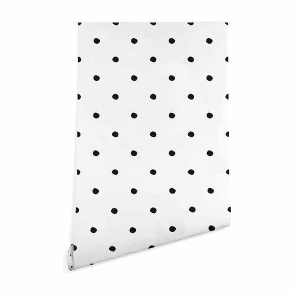 black simple polka dots wallpaper peel and stick