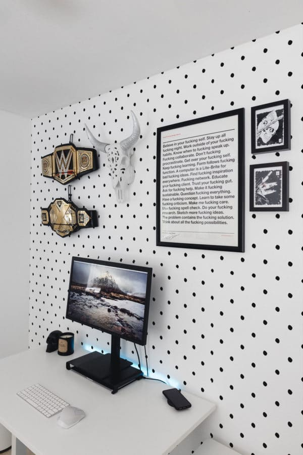 black simple polka dots removable wallpaper