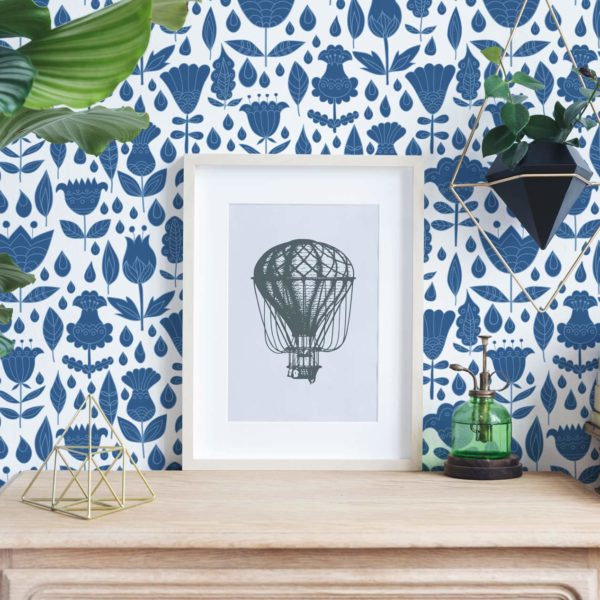 boho floral stick and peel wallpaper