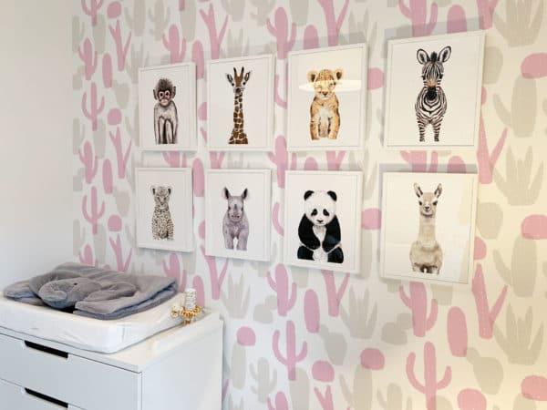 pink cactus wallpaper roll
